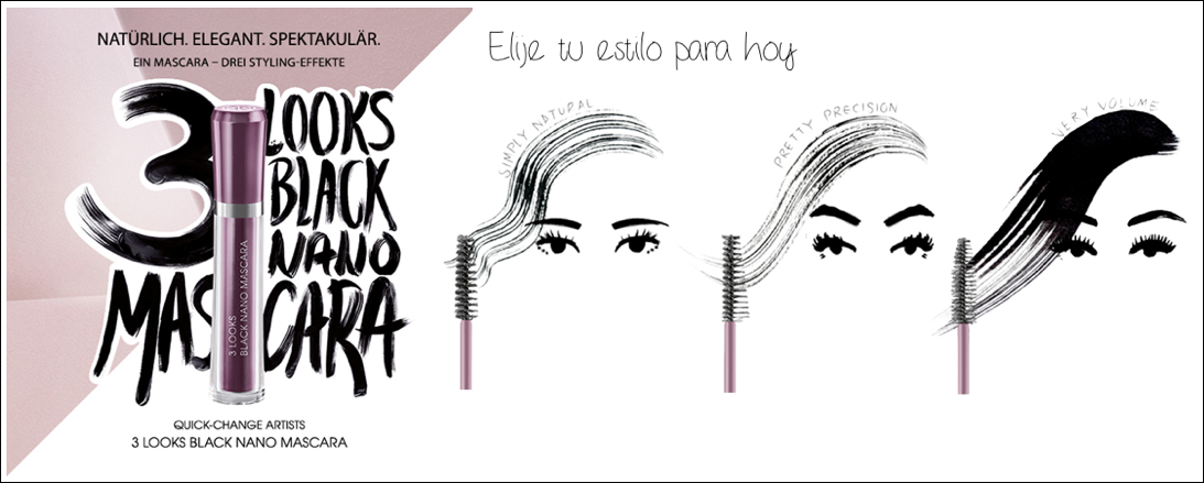 mascara de pestanas nano 3 looks
