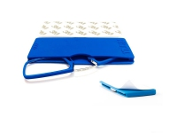 Gafas pregraduadas con funda de silicona adhesiva en color azul de +2,00 dioptrias