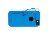Gafas pregraduadas con funda de silicona para Iphone 6, 6S, 7 y 8 en color azul +1,50 dioptrias