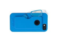 Gafas pregraduadas con funda de silicona para Iphone 6, 6S, 7 y 8 en color azul +2,00 dioptrias